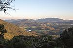 Early morning uplands landscape near Nuwara Eliya, viewed from Horton Plains national park, Sri Lanka, Asia