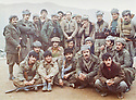Iraq 1979 <br />   In Nawzang, during the armed struggle, in the middle standing, Omar Sheikhmous, on his right, Mullazem Omar Abdallah and peshmergas  <br /> Irak 1979 <br /> Pendant la lutte armee, a Nawzang, debout au centre, Omar Sheikhmous , a sa droite, Mullazem Omar Abdallah et des peshmergas