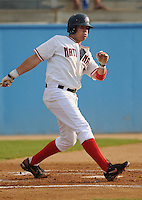 June 21, 2008: Infielder Matt Rogelstad (5) of the Potomac Nationals, Carolina League affiliate of the Washington Nationals, in a game against the Frederick Keys at G. Richard Pfitzner Stadium in Woodbridge, Va. Photo by:  Tom Priddy/Four Seam Images