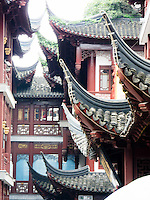 Details of some roofs in Old Shanghai, an architecutural juxtaposition with modern Shanghai.
