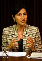 Toronto (ON) CANADA, <br /> <br /> Commissioner Cavoukian is holding a news conference in the Queen's Park Media Studio  May 29, 2007<br /> <br /> photo by Dominic Chan Images Distribution