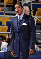Florida International University Head Coach Isiah Thomas during the game against ULM, which won the game 54-50 on January 07, 2012 at Miami, Florida. .