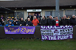 City of Liverpool 6 Holker Old Boys 1, 10/12/2016. Delta Taxis Stadium, North West Counties League Division One. Spectators gather in front of the club house at the Delta Taxis Stadium, Bootle, Merseyside before City of Liverpool hosted Holker Old Boys in a North West Counties League division one match. Founded in 2015, and aiming to be the premier non-League club in Liverpool, City were admitted to the League at the start of the 2016-17 season and were using Bootle FC's ground for home matches. A 6-1 victory over their visitors took 'the Purps' to the top of the division, in a match watched by 483 spectators. Photo by Colin McPherson.