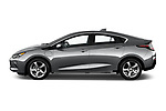 Car Driver side profile view of a 2018 Chevrolet Volt LT 5 Door Hatchback Side View