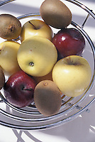 Fruit in Stainless Steel Wire Bowl