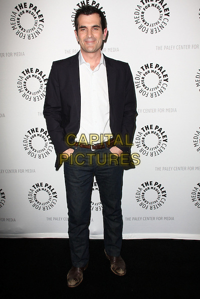 "TY BURRELL .27th Annual PaleyFest Presents ""Modern Family"" held At The Saban Theatre, Beverly Glen circle, USA, .26th February 2010..full length white shirt jeans hands in pockets navy blue jacket blazer .CAP/ADM/KB.©Kevan Brooks/AdMedia/Capital Pictures."
