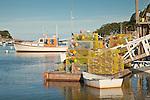 New Harbor, a fishing village in Bristol, ME, USA
