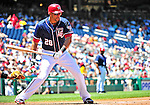4 July 2010: Washington Nationals outfielder Mike Morse in action against the New York Mets at Nationals Park in Washington, DC. The Mets defeated the Nationals 9-5, splitting their 4-game series. Mandatory Credit: Ed Wolfstein Photo