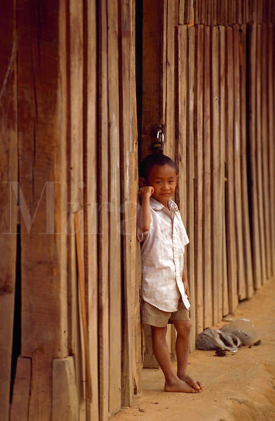 Little boy in northern Thailand