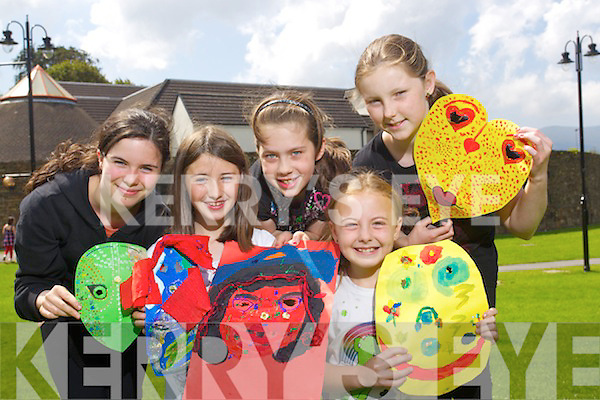 Children attending the Siamsa Art Summer Camp on Wednesday were fromleft: Sinead McSwiney, Emma O'Keeffe, Casey Mahony, Natasha Myers and Ciara O'Regan.