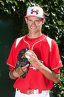 Pitcher outfielder/pitcher Trey Ball #33 of New Castle High School in Indiana poses for a photo before participating in the Under Armour All-American Game powered by Baseball Factory at Wrigley Field on August 18, 2012 in Chicago, Illinois.  (Mike Janes/Four Seam Images)