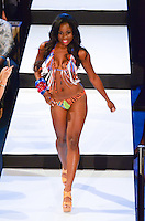 Miami Dolphins Cheerleader, Rochelle, walks runway at Miami Dolphins Cheerleaders 2013 Swimsuit Calendar Unveiling Fashion Show at LIV Nightclub in The Fontainebleau Miami Beach Hotel, Miami Beach, FL on August 26, 2012
