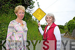 Marie O'Connor and Angela O'Connor are annoyed about the continuous inadequate road surface and signage on the Ballyroe road occupied by almost 60 houses.