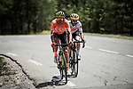 Olympic Champion Greg Van Avermaet (BEL) CCC Team and Julien Bernard (FRA) Trek-Segafredo attack from the breakaway group over the Col de Vars during Stage 18 of the 2019 Tour de France running 208km from Embrun to Valloire, France. 25th July 2019.<br /> Picture: ASO/Pauline Ballet | Cyclefile<br /> All photos usage must carry mandatory copyright credit (© Cyclefile | ASO/Pauline Ballet)