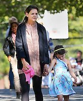 Katie Holmes & Suri Cruise at a playground - New York