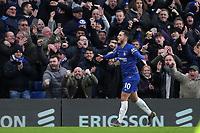 Eden Hazard celebrates scoring Chelsea's third goal during Chelsea vs Huddersfield Town, Premier League Football at Stamford Bridge on 2nd February 2019