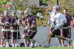Los Angeles, CA 03/08/10 - Jack Tanenbaum (FSU # 29) and Chase Parlett (LMU # 6) in action during the Florida State-LMU MCLA interconference men's lacrosse game at Leavey Field (LMU).  Florida State defeated LMU 12-7.