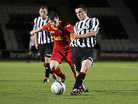 John McGinn clears in the St Mirren v Dunfermline Athletic Clydesdale Bank Scottish Premier League U20 match played at St Mirren Park, Paisley on 2.10.12.