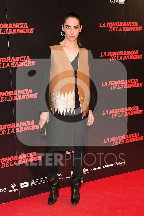 """Nur Levi attends """"La Ignorancia de la Sangre"""" Premiere at Capitol Cinema in Madrid, Spain. November 13, 2014. (ALTERPHOTOS/Carlos Dafonte)"""