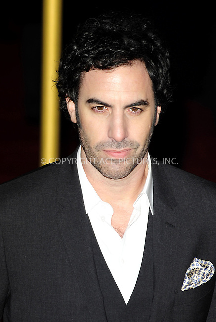 WWW.ACEPIXS.COM....US SALES ONLY....December 5, 2012, London, UK....Sacha Baron Cohen arriving at the World premiere of 'Les Miserables' on December 5, 2012  in Leicester Square, London.......By Line: Famous/ACE Pictures....ACE Pictures, Inc..Tel: 646 769 0430..Email: info@acepixs.com