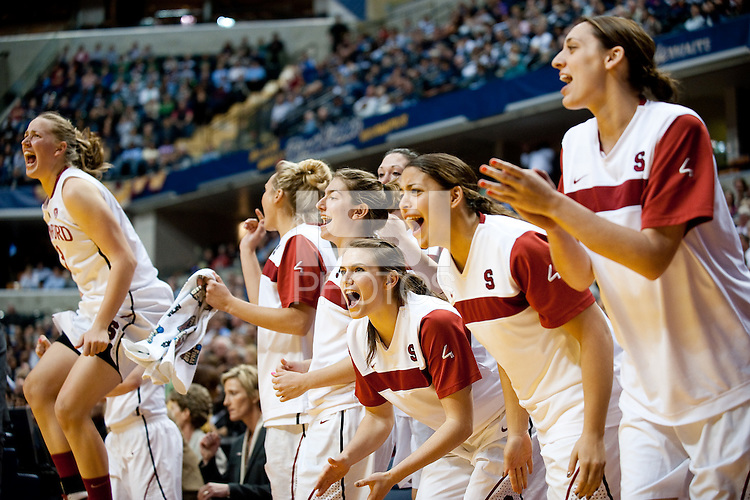 INDIANAPOLIS, IN - APRIL 3, 2011: Stanford Cardinal during the NCAA Final Four against Texas A&M at Conseco Fieldhouse  in Indianapolis, IN on April 1, 2011.