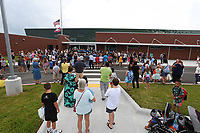 NWA Democrat-Gazette/J.T. WAMPLER Several hundred people watch Wednesday August 7, 2019 during the ribbon cutting ceremony at Fairview Elementary School, the Rogers School DistrictÕs 16th elementary school.