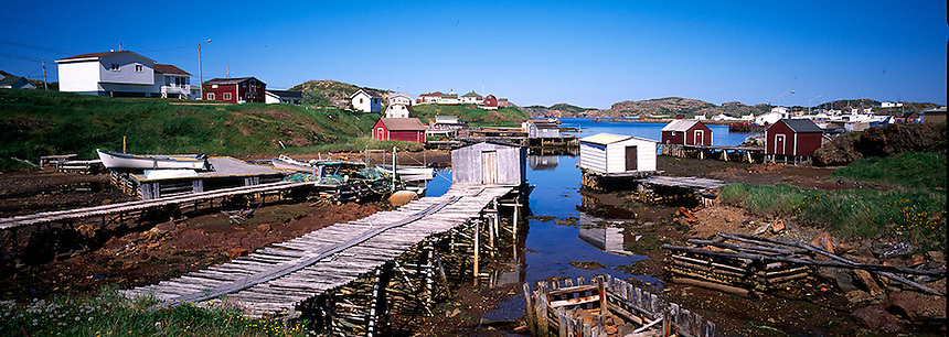 Small harbor, near Twillingate, Newfoundland. Photograph by Peter E. Randall