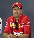 09.05.2019, Circuit de Catalunya, Barcelona, FORMULA 1 EMIRATES GRAN PREMIO DE ESPAÑA 2019<br /> , im Bild<br />Pressekonferenz:<br />Sebastian Vettel (GER#5), Scuderia Ferrari Mission Winnow<br /> <br /> Foto © nordphoto / Bratic