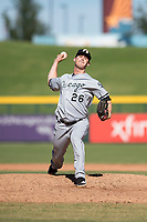 Glendale Desert Dogs relief pitcher Danny Dopico (26), of the Chicago White Sox organization, delivers a pitch during an Arizona Fall League game against the Mesa Solar Sox at Sloan Park on October 27, 2018 in Mesa, Arizona. Glendale defeated Mesa 7-6. (Zachary Lucy/Four Seam Images)