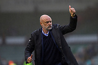 Fleetwood Town manager Uwe Rosler celebrates with the fans at full time of the Sky Bet League 1 match between Plymouth Argyle and Fleetwood Town at Home Park, Plymouth, England on 7 October 2017. Photo by Mark  Hawkins / PRiME Media Images.