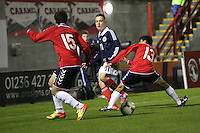 Barrie McKay in the Scotland v Armenia UEFA European Under-19 Championship Qualifying Round match at New Douglas Park, Hamilton on 9.10.12.