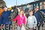 Jim O'Connor, Jade Barry, Bobby McCarthy, Kenneth O'Connor Castleisland and Jer Brosnan Knocknagoshel enjoying the Castleisland Fair on Tuesday
