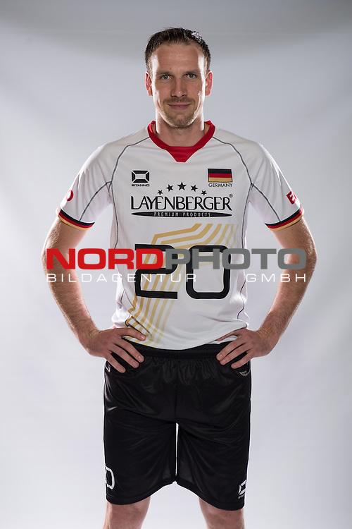 24.05.2015, Sportzentrum Westenfeld, Bochum<br /> Volleyball, Fotoshooting Nationalmannschaft MŠnner / Maenner<br /> <br /> Matthias Pompe (#20 GER)<br /> <br />   Foto &copy; nordphoto / Kurth