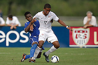 Juan Agudelo (17) of the USA. The US U-17 Men's National Team defeated the Development Academy Select Team 3-1 during day one of the US Soccer Development Academy  Spring Showcase in Sarasota, FL, on May 22, 2009.