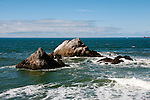Seal Rocks at Cliff House,restaurant near Golden Gate Park, San Francisco, California, USA.  Photo copyright Lee Foster.  Photo # california108330