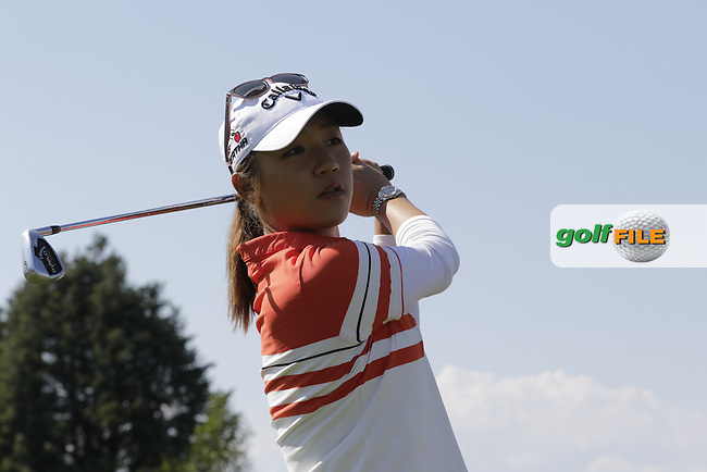Lydia Ko (NZL) during Wednesday's Pro-Am of the LPGA 2015 Evian Championship, Evian les Bains, France. 09/09/2015.<br /> Picture Eoin Clarke | Golffile