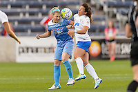 Bridgeview, IL - Saturday June 18, 2016: Julie Johnston, Stephanie McCaffrey during a regular season National Women's Soccer League (NWSL) match between the Chicago Red Stars and the Boston Breakers at Toyota Park.