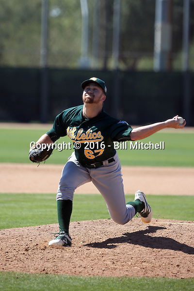 Andrew Tomasovich - Oakland Athletics 2016 spring training (Bill Mitchell)