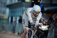 Sir Bradley Wiggins (GBR/Sky) in his final TT as a World TT Champion<br /> <br /> 3 Days of De Panne 2015<br /> stage 3b: De Panne-De Panne TT