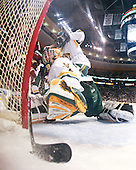 Ben Smith (BC - 12), Joe Fallon (Vermont - 29) - The Boston College Eagles defeated the University of Vermont Catamounts 4-0 in the Hockey East championship game on Saturday, March 22, 2008, at TD BankNorth Garden in Boston, Massachusetts.