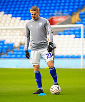 4th January 2020; Cardiff City Stadium, Cardiff, Glamorgan, Wales; English FA Cup Football, Cardiff City versus Carlisle; Danny Ward of Cardiff City warms up before the match  - Strictly Editorial Use Only. No use with unauthorized audio, video, data, fixture lists, club/league logos or 'live' services. Online in-match use limited to 120 images, no video emulation. No use in betting, games or single club/league/player publications