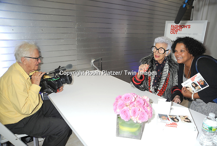 Iris Apfel and Albert Maysles attends the Loehmann's Fashion Show for Fashion's Night Out on September 6, 2012 in New York City.