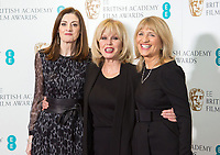 www.acepixs.com<br /> <br /> January 9 2018, London<br /> <br /> (L-R) BAFTA Chief Executive, Amanda Berry OBE, Joanna Lumley and BAFTA Chair, Jane Lush taking part at The EE British Academy Film Award, BAFTA, nominations announcement at BAFTA on January 9, 2018 in London, England.<br /> <br /> By Line: Famous/ACE Pictures<br /> <br /> <br /> ACE Pictures Inc<br /> Tel: 6467670430<br /> Email: info@acepixs.com<br /> www.acepixs.com