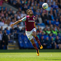 Neil Taylor of Aston Villa during the Sky Bet Championship match between Cardiff City and Aston Villa at the Cardiff City Stadium, Cardiff, Wales on 12 August 2017. Photo by Mark  Hawkins / PRiME Media Images.