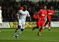 Pictured: Febian Brandy of Swansea City in action<br /> Re: Carling Cup Round Four, Swansea City Football Club v Watford at the Liberty Stadium, Swansea, south Wales, Tuesday 11 November 2008.<br /> Picture by Dimitrios Legakis Photography (Athena Picture Agency), Swansea, 07815441513
