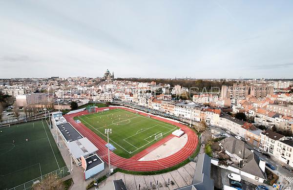 The Sippelberg football stadium and fields in Molenbeek-Saint-Jean, Brussels (Belgium, 28/11/2015)