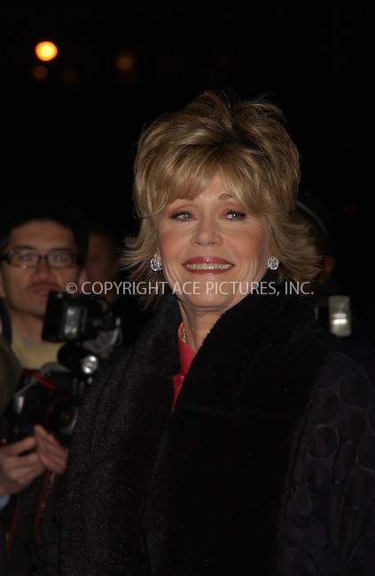 WWW.ACEPIXS.COM . . . . . ....January 10 2006, New York City....JANE FONDA....The 2005 National Board of Review Motion Pictures Awards ceremony at the Tavern on the Green, Manhattan....Please byline: KRISTIN CALLAHAN - ACEPIXS.COM.. . . . . . ..Ace Pictures, Inc:  ..Philip Vaughan (212) 243-8787 or (646) 679 0430..e-mail: info@acepixs.com..web: http://www.acepixs.com