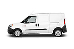 Car driver side profile view of a 2015 Ram Promaster City Trademans 4 Door Cargo Van