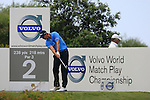 Nicolas Colsaerts (BEL) tees off on the 2nd tee during the afternoon session on Day 2 of the Volvo World Match Play Championship in Finca Cortesin, Casares, Spain, 20th May 2011. (Photo Eoin Clarke/Golffile 2011)
