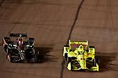 Zach Veach, Andretti Autosport Honda, Simon Pagenaud, Team Penske Chevrolet
